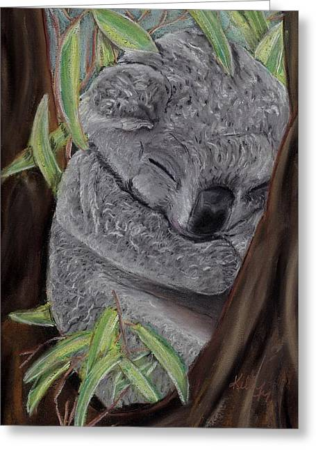 Shhhhh Koala Bear Sleeping Greeting Card