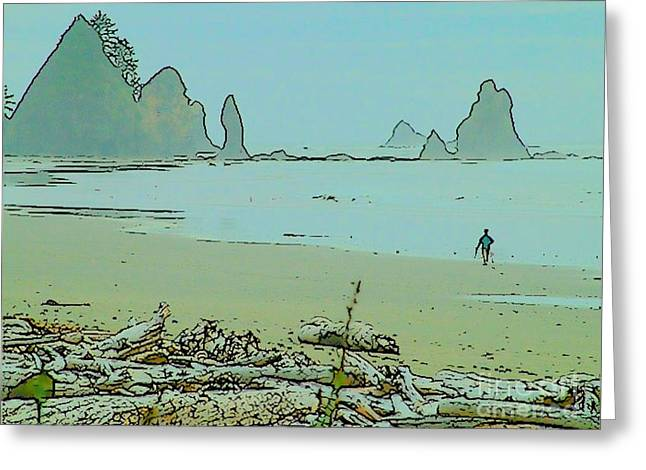 Shi Shi Beach And Patrick Greeting Card