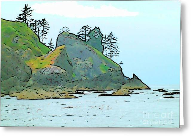 Shi Shi Beach Greeting Card