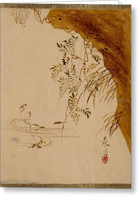 Shibata Zeshin    Overhanging Cliff Greeting Card