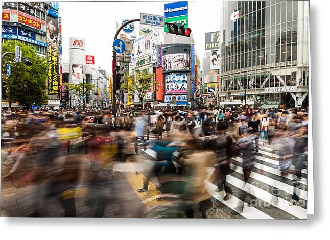 Shibuya Area, Tokyo, Japan Greeting Card by Voisin/Phanie