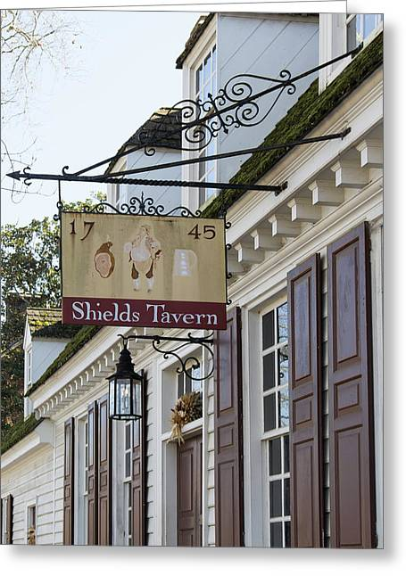 Shields Tavern Sign Greeting Card