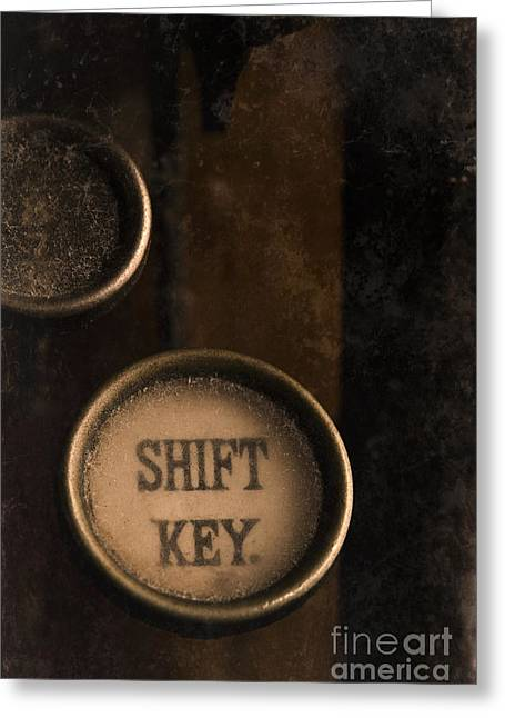 Shift Key Greeting Card