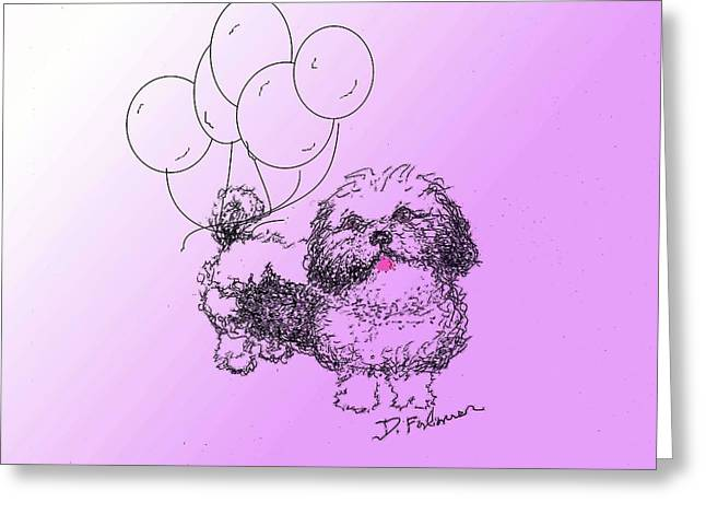 Shih Tzu Greeting Card