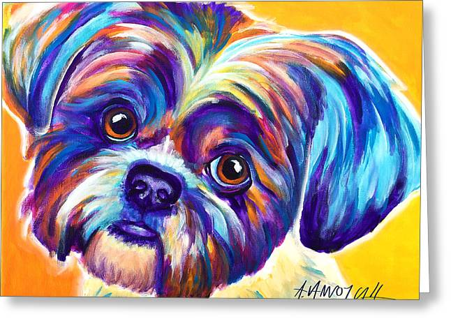 Shih Tzu - Dreamy Greeting Card by Alicia VanNoy Call