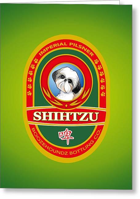 Shih Tzu Imperial Pilsner Greeting Card