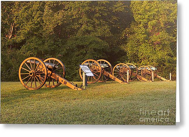 Shiloh Cannons Greeting Card by David Bearden