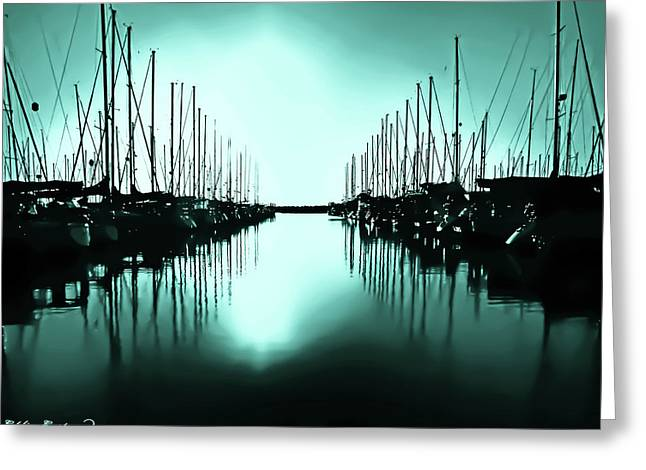 Shilshole Bay Marina In Seattle Washington Greeting Card