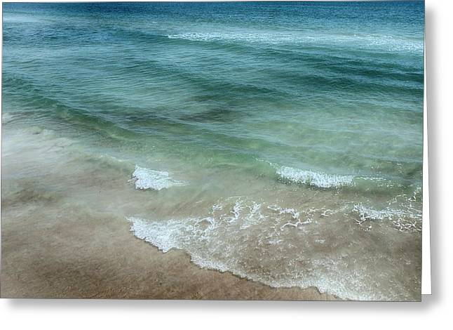 Shimmering Tide Greeting Card by Judy Hall-Folde