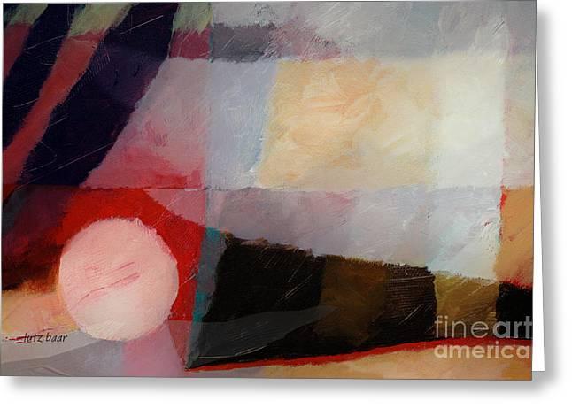 Shimmery Landscape Greeting Card by Lutz Baar