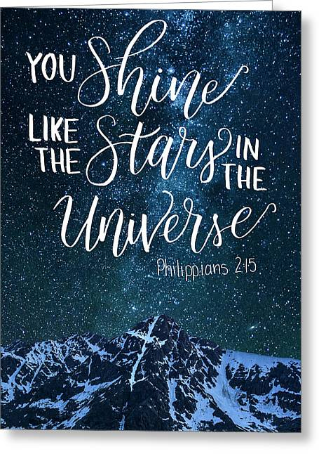 Shine Like Stars In The Sky Greeting Card
