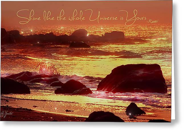 Greeting Card featuring the photograph Shine Like The Universe  by Cindy Greenstein