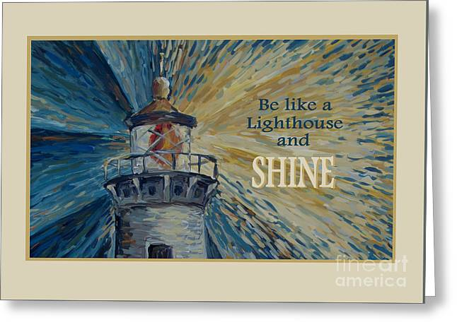 Greeting Card featuring the painting Shine by Maria Langgle