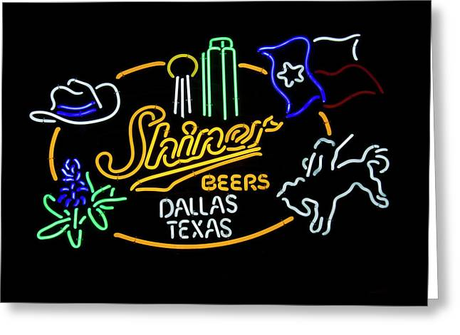 Shiner Beers Dallas Texas Greeting Card