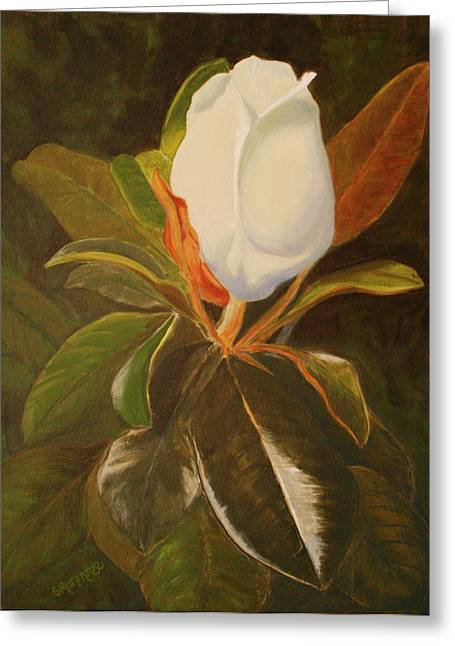 Shining Magnolia Greeting Card