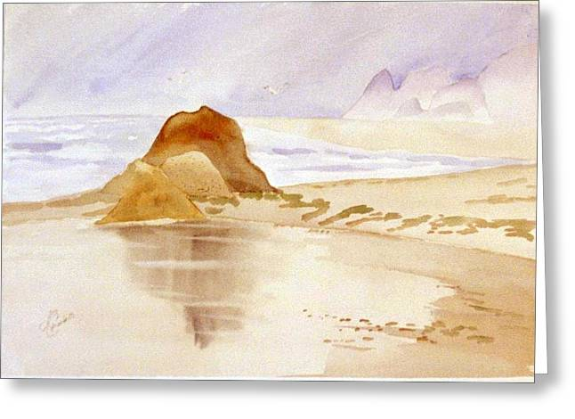 Shining Sands Greeting Card by Leo Chiantelli