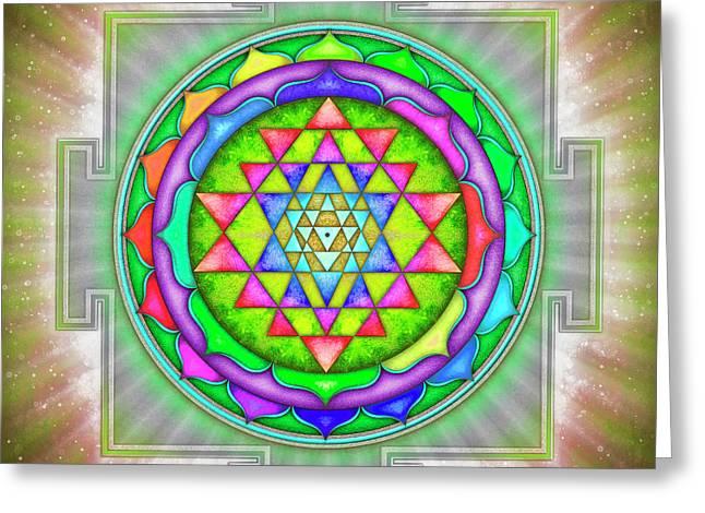 Shining Sri Yantra Mandala Iv Greeting Card