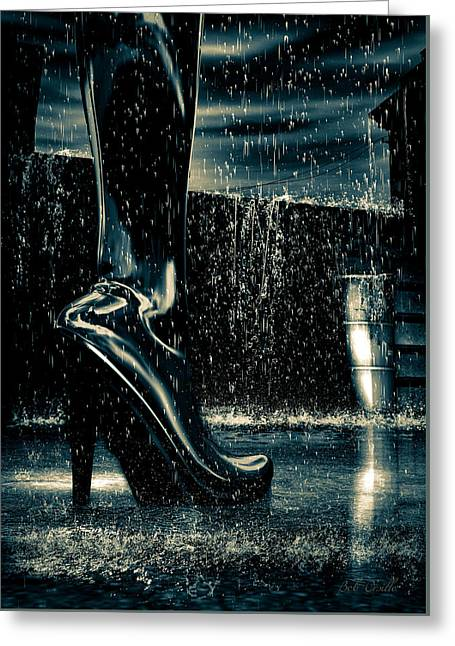 Shiny Boots Of Leather Greeting Card by Bob Orsillo