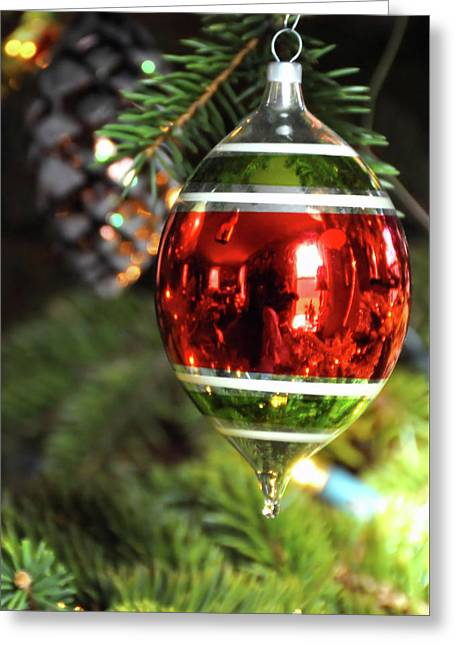 Shiny Brite Greeting Card by JAMART Photography