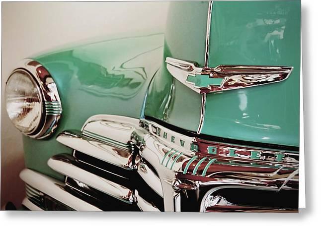 Shiny Chevy Greeting Card by Patricia Strand