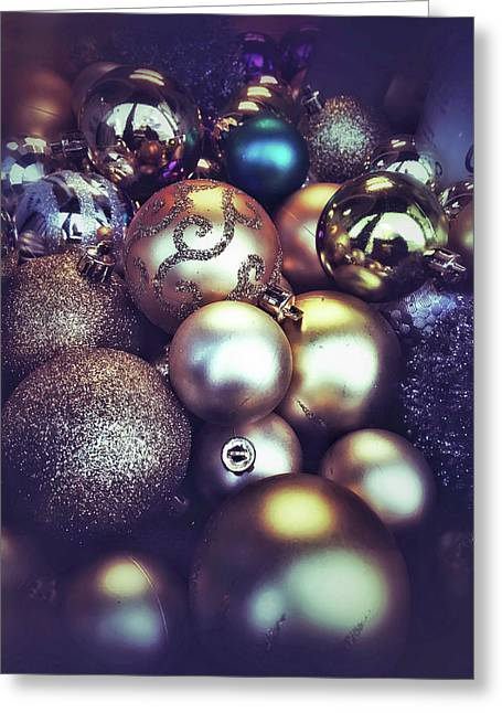 Shiny Christmas Baubles Greeting Card