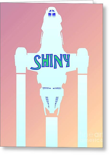 Shiny Greeting Card by Justin Moore