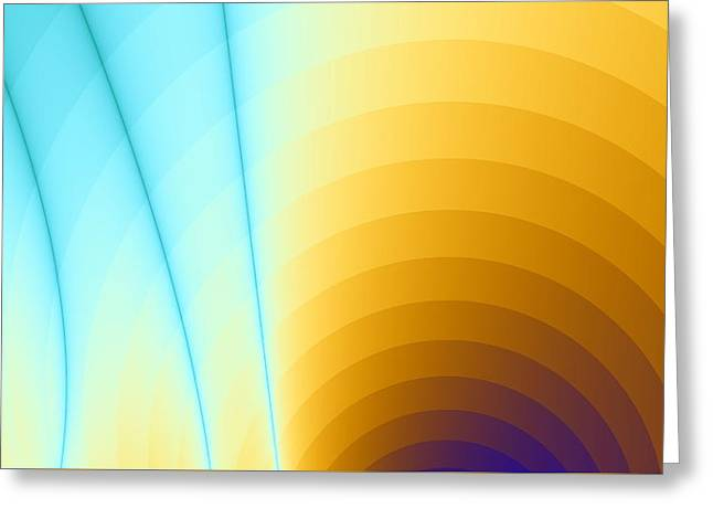 Shiny Rainbow Greeting Card by Jhoy E Meade