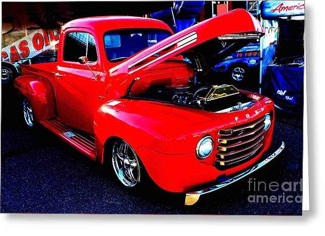 Shiny Red Ford Truck Greeting Card
