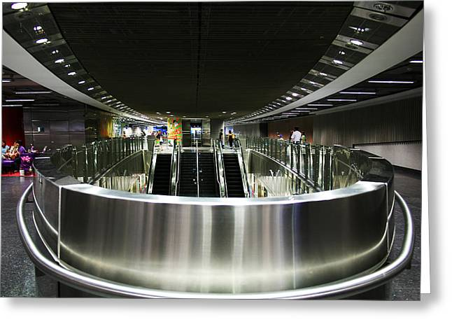 Shiny Singapore Stainless Steel Underground Station Greeting Card by Jane McDougall