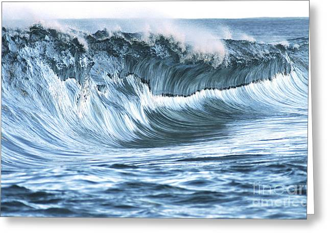 Shiny Wave Greeting Card by Vince Cavataio - Printscapes