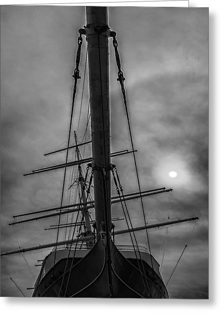 Ship Clouds And Sun Greeting Card by Robert Ullmann