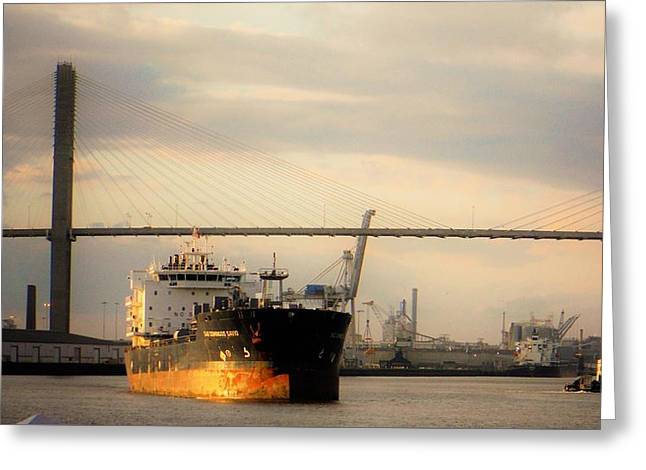Ship To Shore Transport Greeting Card