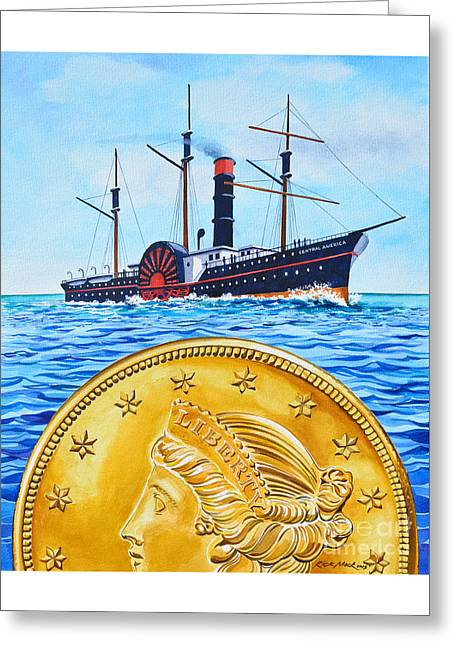 Ship Of Gold Greeting Card
