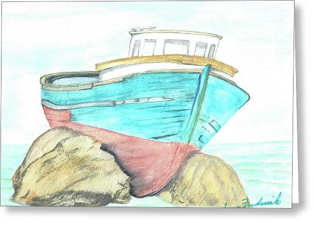 Ship Wreck Greeting Card