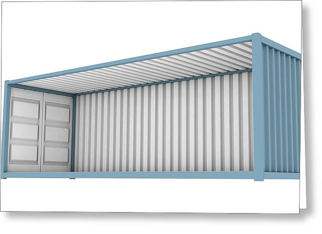 Shipping Container Cutaway Greeting Card