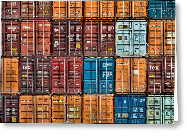 Shipping Containers Greeting Card