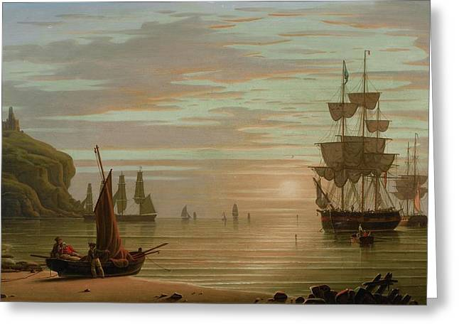Shipping Greeting Card by Robert Salmon