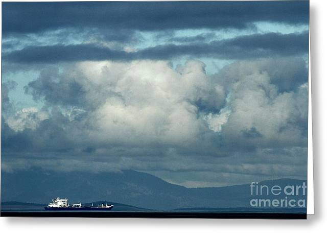 Shipping Storms Greeting Card by Adam Jewell