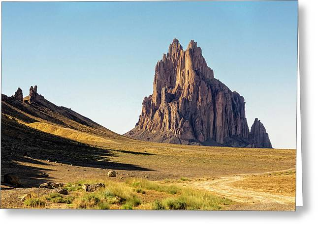 Shiprock 3 - North West New Mexico Greeting Card