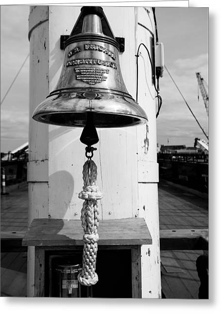 Ships Bell Uss Constitution Greeting Card