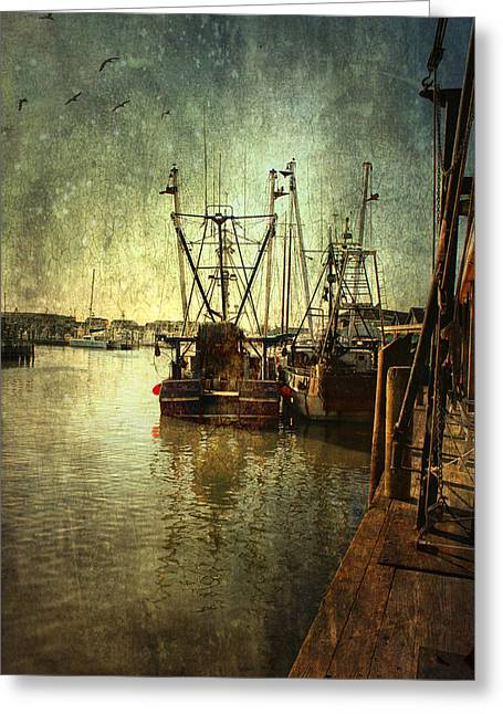 Ships Docked Greeting Card