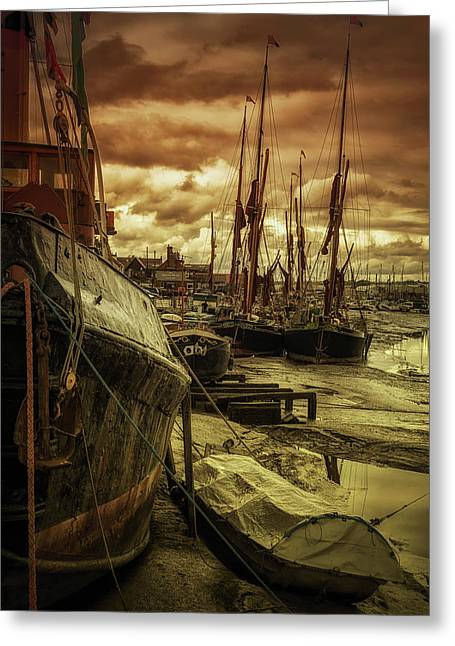Ships From Essex Maldon Estuary Greeting Card