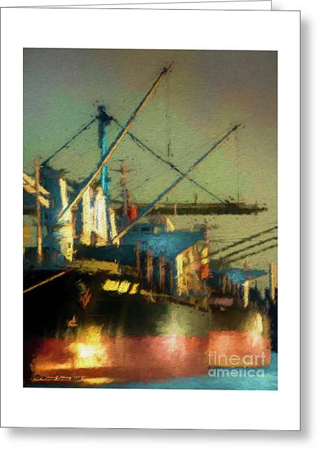 Ships Greeting Card by Marvin Spates