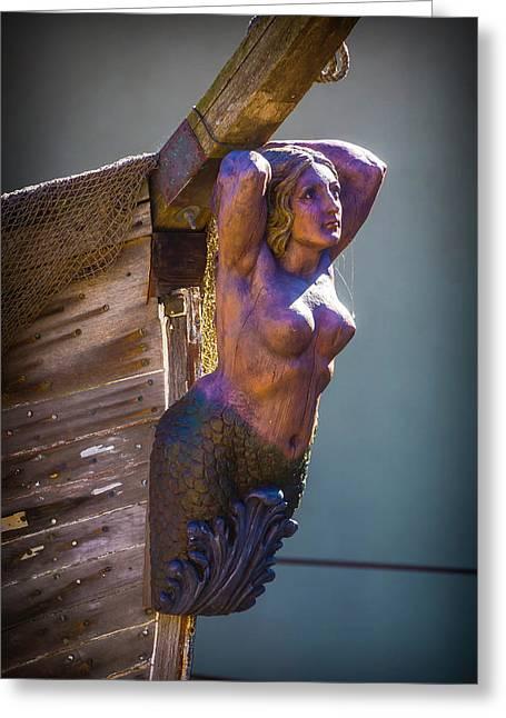 Ships Mermaid Greeting Card