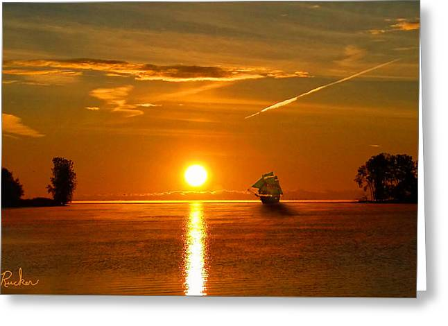 Ships Of Yesterday Greeting Card