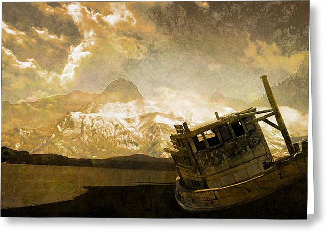 Shipwreck - Reload Greeting Card by Jeff Burgess