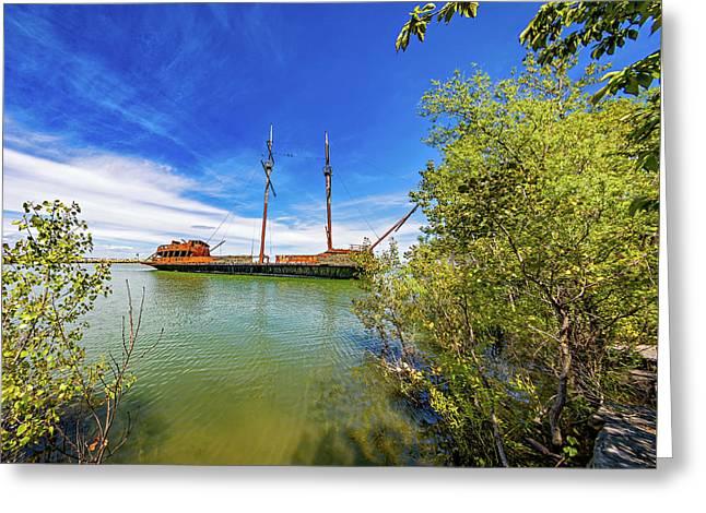 Shipwreck - La Grande Hermine Greeting Card