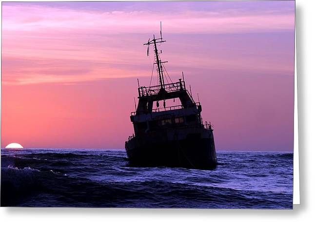 Greeting Card featuring the photograph Shipwreck by Riana Van Staden