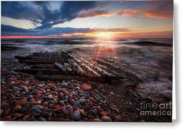 Shipwreck Sunrise Greeting Card