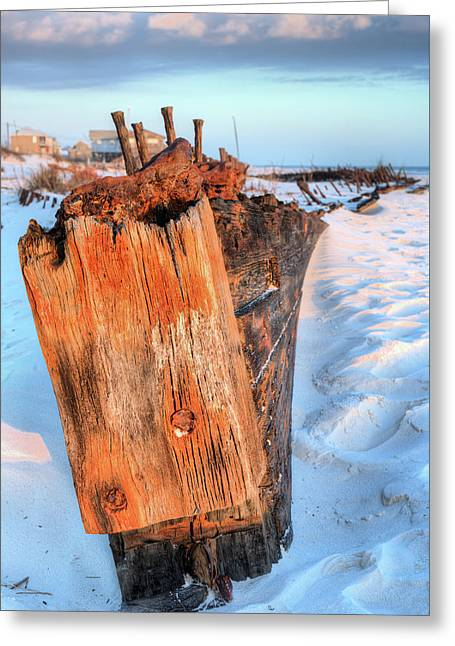 Shipwrecked In Fort Morgan Greeting Card by JC Findley